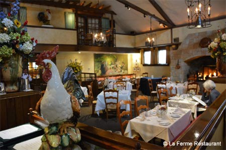 Dining Room at La Ferme Restaurant, Chevy Chase, MD
