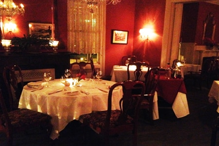 Dining room at La Maison on Telfair, Augusta, GA