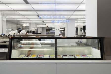 Il Laboratorio del Gelato in New York serves gourmet ice cream and sorbet