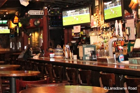 Solid bar food and numerous TVs are among the draws at Lansdowne Road, one of GAYOT's Best Sports Bars in NYC