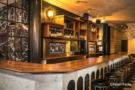 The bar of La Compagnie des Vins Surnaturels in NoLIta