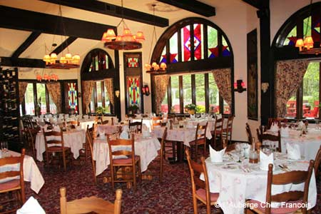 L'Auberge Chez Francois serves elegant French food in the Virginia countryside