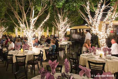 Celebrate Valentine's Day at Lavender Bistro in La Quinta, near Palm Springs, California