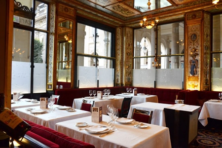 Dining room at Le Grand Véfour, Paris, france