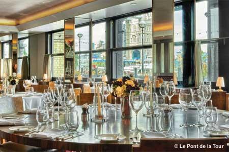 Dining Room at Le Pont de la Tour, London,