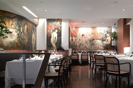Dining room at The Leopard at des Artistes, New York, NY