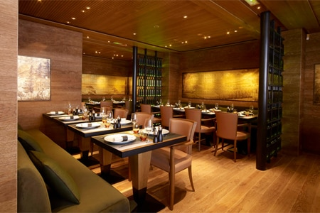 Dining room at Les 110 de Taillevent in Paris, France