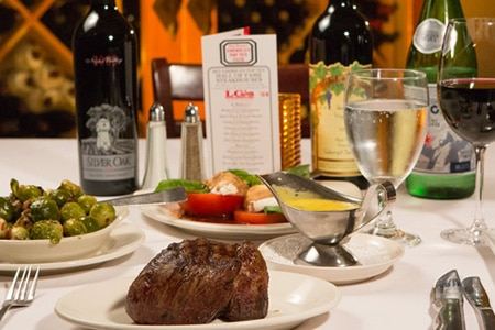 Desert dwellers frequent LG's Prime Steakhouse for quality meats, potent martinis and hospitality