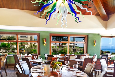 Dine on California cuisine beside the Pacific Ocean at Lido, one of GAYOT's Best Romantic Restaurants in Central Coast California