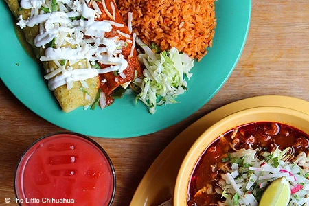 Enjoy enchiladas, tacos, burritos and more at he Little Chihuahua Mexican Restaurant in San Francisco