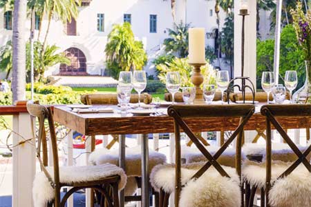 The Little Door is one of GAYOT's Best Outdoor Dining Restaurants in Santa Barbara