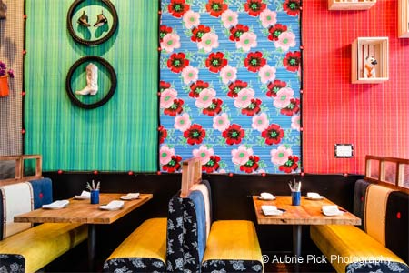 Loló offers a splash of personality and a riot of color to diners seeking a fun night out
