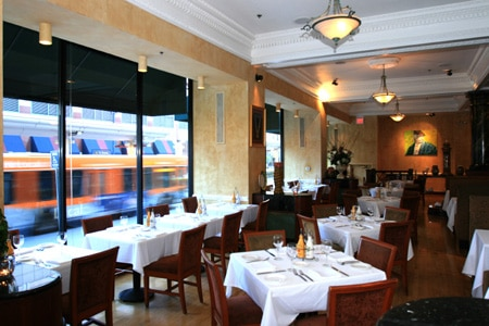 Dining room at L'Opera, Long Beach, CA