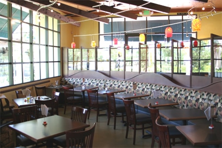 Dining Room at Lucca Cafe, Irvine, CA