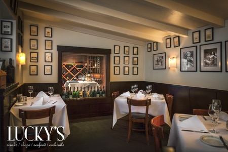 Lucky's, one of Gayot's Top 10 Steakhouses in Santa Barbara