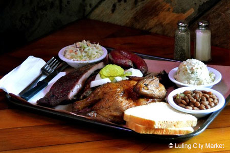 Enjoy some of Houston's best barbecue at Luling City Market BBQ