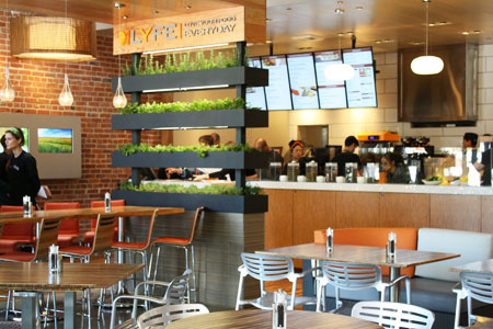 Dining room at LYFE Kitchen, Culver City, CA