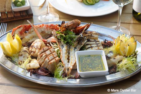 Enjoy some of Boston's best seafood at Mare Oyster Bar restaurant