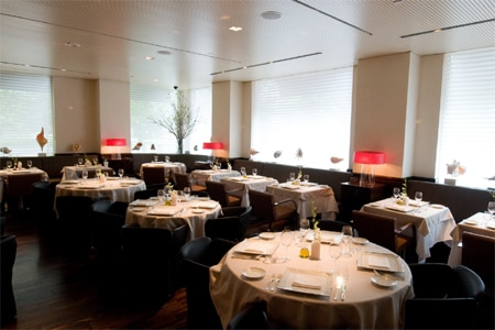 Dining room at Marea, New York, NY