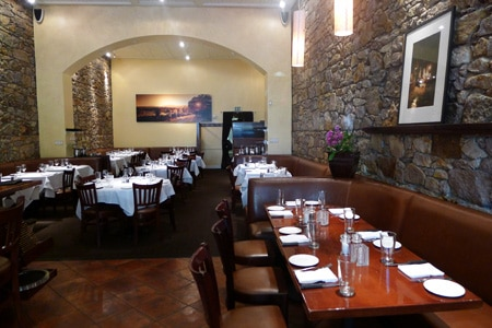 Dining room at Market, St. Helena, CA