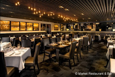 Dining Room at Market Restaurant + Bar, Del Mar, CA
