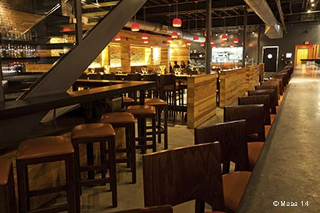 Dining Room at Masa 14, Washington, DC