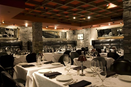 Dining room at Mastro's Steakhouse, Beverly Hills, CA