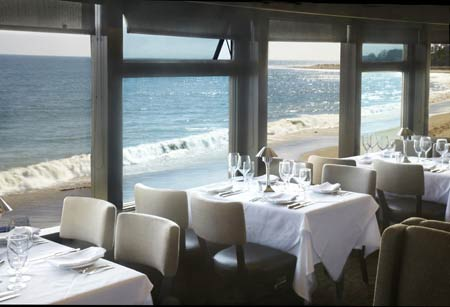Dining room at Mastro's Ocean Club, Malibu, CA