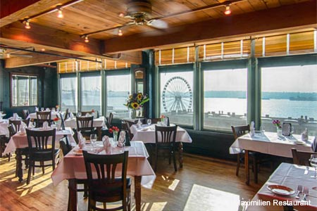 Dining Room at Maximilien Restaurant, Seattle, WA