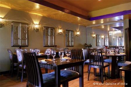 Dining Room at Mayur Cuisine of India, Corona Del Mar, CA