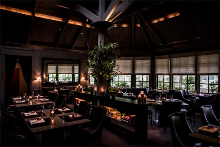 Dining room at The Restaurant at Meadowood, St. Helena, CA