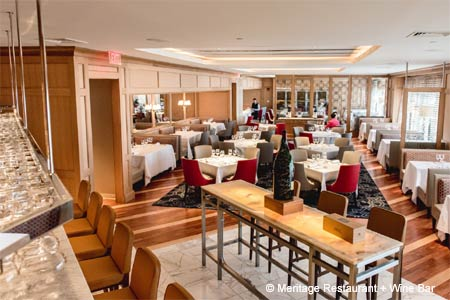 Dining Room at Meritage Restaurant + Wine Bar, Boston, MA