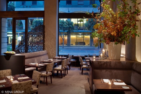 The dining room at Michael Mina in the Financial District