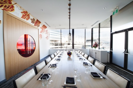 Dining room at Miku, Vancouver, canada