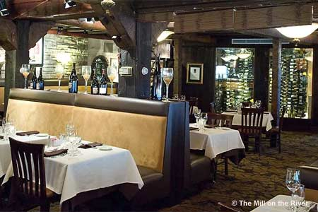 Enjoy a seafood dinner at The Mill on the River in South Windsor, Connecticut
