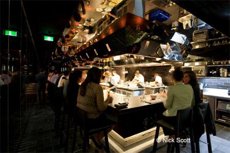Dining room at Momofuku Seiobo, Sydney, australia