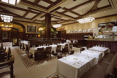 Dining room at Mon Ami Gabi, Las Vegas, NV
