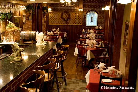 Monastery Restaurant is one of the most romantic restaurants in Norfolk, Virginia