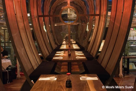Dining Room at Moshi Moshi Sushi, London,
