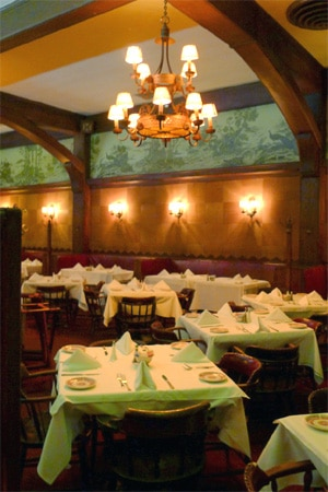 Dining room at Musso & Frank Grill, Hollywood, CA