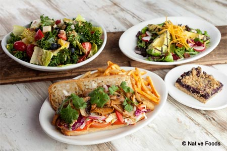 Native Foods Cafe, one of GAYOT's Best Heart-Healthy Restaurants in Chicago