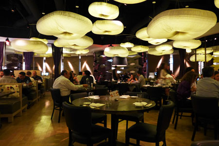 The dining room at Nobu Restaurant Caesars Palace in Las Vegas, Nevada