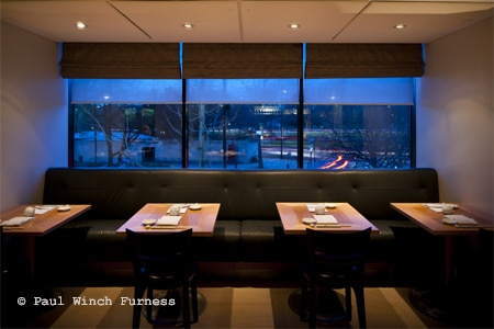 Dining room at Nobu London, London, UK