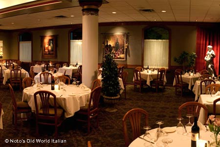 Noto's Old World Italian restaurant offers a romantic setting for a special dinner in Grand Rapids