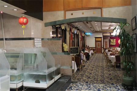 Dining room at Ocean Seafood, Los Angeles, CA