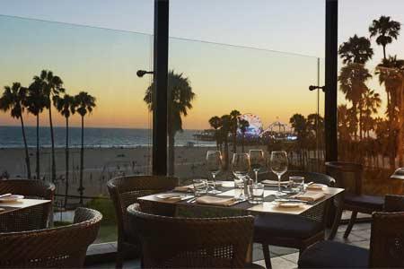 Dining Room at Ocean & Vine, Santa Monica, CA