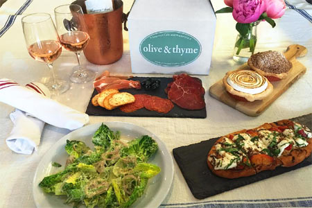 Dining Room at Olive & Thyme, Burbank, CA