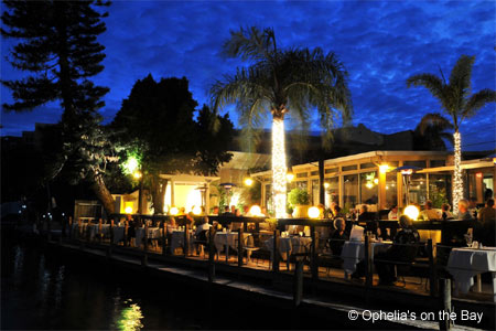 Ophelia's On The Bay in Siesta Key boasts a waterfront terrace