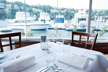 Discover the best restaurants with a view, such as Ormeggio at The Spit in Sydney, Australia