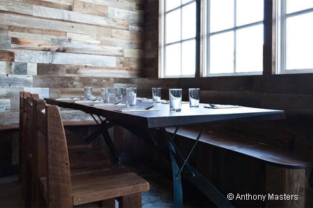 Outerlands is a tiny, wood-timbered café with a sustainable, seasonal menu
